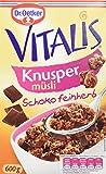 Dr. Oetker Vitalis Knuspermüsli Schoko feinherb: Knuspermüsli mit feinherber Schokolade, 5er...