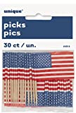 US American Flag Cupcake Topper, 30Stück
