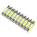 sharplace 10x Weiß 50503SMD PREMIUM QUALITAET–NEU-28–31mm LED Birne für Auto Visier...
