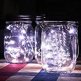 DOLDOA LED Licht,Solar LED Licht Für Mason Jar Deckel Garten Dekor,Weiß(Nur Solar Mason Jar Lid)