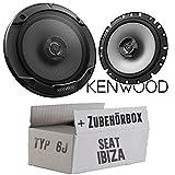 Seat Ibiza 6J - Lautsprecher Boxen Kenwood KFC-S1766-16cm 2-Wege Koax Auto Einbauzubehör -...