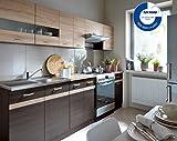 Küche 240cm von FIWODO® - ERWEITERBAR - günstig + schnell - Einbauküche Junona Line Set 240 - 4...