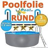 Poolfolie 4,60 x 0,8 mm 0,90 1,20 1,25 1,35 1,50 m Ersatzfolie Innenfolie rund Rundpool 4,6...