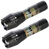Readaeer Superhelle CREE T6 LED Taschenlampe Zoombar Wasserdicht Camping Handlampe für Outdoor...