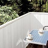 Noor Sichtschutzmatte PVC, Weiß, 0,90 x 3 m