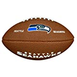 Wilson NFL Team Logo Mini Seattle Seahawks American Football, Braun, Größe Mini