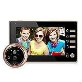4.3' LCD HD Display Digitaler Türspion mit Weitwinkel 160° für Türstärken von 35mm-110mm