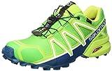 Salomon Speedcross 4 GTX Herren Trailrunning-Schuhe, Classic Green/Lime Green/Poseidon, 43 1/3 EU