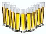 Bierglas Gläser-Set Serie Linea 6 teilig | Füllmenge 390 ml | Altbiertulpe ideal für Pilsener...