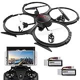 UDI U818A Verbesserte WIFI FPV Drohne mit 2MP HD Kamera APP Steuern RC Quadrocopter Kopflosmodus...