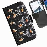 Hairyworm- Fisch Seiten Leder-Schützhülle für das Handy Sony Xperia Z2
