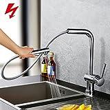 Homelody 360° drehbar Niederdruck Armatur Küche Wasserhahn zwei Funktionen Mischbatterie...
