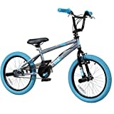 18 Zoll BMX deTOX Freestyle Kinder BMX Anfänger ab 120 cm, 6 J., Farbe:grau/blau