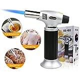 Bunsenbrenner, Nachfüllbar Küchenbrenner Fackel Verstellbar Flambierbrenner Feuerzeug mit Safety...