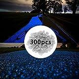 Slomg, fluorescierende Leuchtsteine, weiß und blau, 300 Stück