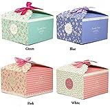 Chilly Geschenk-Boxen, Set mit 12 dekorativen Kästchen für Kekse, Leckereien, Süßigkeiten und...