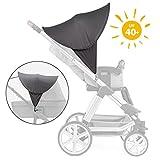 Zamboo Kinderwagen Sonnenschutz Universal - Baby Sonnenverdeck für Buggy & Sportwagen | XL Pop-Up...