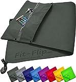 3-tlg Fitness-Handtuch Set mit Reißverschluss Fach + Magnetclip + extra Sporthandtuch | zum Patent...