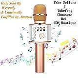 Bluetooth Karaoke Mikrofon,Sairain Bluetooth 4.2 tragbares drahtloses Mikrofon, Lautsprecher für...