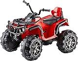 Jamara 460249 - Ride-on Quad Protector rot 12V - 2 Leistungsstarke 12V Antriebsmotoren und...