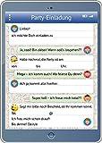 Handy-/Tablet-Einladungen (Set 2): 12-er-Set lustige Handy-/TabletEinladungskarten mit...