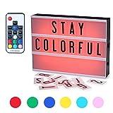 Leuchtkasten,CrazyFire Farbwechsel Leuchte Box A4 Lichtkasten LED Lichtbox 104 Buchstaben mit...