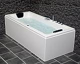Whirlpool Badewanne Venedig MADE IN GERMANY rechts oder links 150 / 160 / 170 x 75 cm mit 6 Massage...