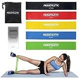 Fitnessbänder / Widerstandsbänder, 5er Set mit e-Anleitung und Tragebeutel – 5x Fitnessband,...
