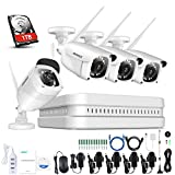 ANNKE WiFi Überwachungskamera-Set 8CH 1080P Wireless NVR System mit 4PCS 1080P WLAN Außen Kamera...