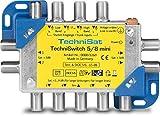 TechniSat TECHNISWITCH 5/8 MINI, Multischalter/Satverteiler für bis zu 8 Teilnehmer, 100m...