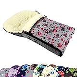 BAMBINIWELT universaler Winterfußsack (90cm oder 108cm), auch geeignet für Babyschale,...