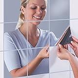 16pcs Spiegel Wandaufkleber, AIKEN-M DIY Wandspiegel Dekorative Wand Spiegel Selbstklebende Mosaik...