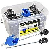 Langstiel-Ringisolatoren , 50 Stck. Abstandsisolatoren + Einschrauber in einer Box, für den...