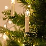 20er LED Weihnachtsbaum Kerzen Licherkette koppelbar bis 8 Sets warmweiß Lights4fun