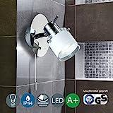 LED Bad Wandleuchte Wandlampe schwenkbar spritzwasser geschützt IP44 Zugschalter Badlampe...