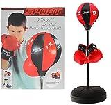 Kinder Punchingball mit Boxhandschuhen - Standbox Trainer höhenverstellbar - Standing Punching Ball...