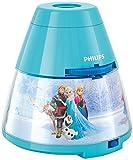 Philips Disney Frozen (Die Eiskönigin) LED Projektor Tischleuchte, hellblau, 717690816
