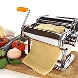 Manuelle Nudelmaschine Edelstahl Pasta Maker Pastamaschine Nudel Maschine für 7 verschiedenen...