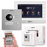 Goliath IP Video-Türsprechanlage mit Kamera, Unterputz HD Türstation 150°, Edelstahl, App mit...
