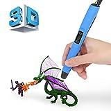 3D Druckerstift | 2017 Upgrade | Blusmart Intelligenter 3D Pen 3D Stift LED Bildschirm mit...