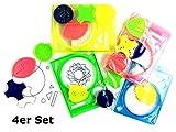 Zeichenschablone, Malschablone Spiral Schablone - 4er Set - Give Away, Mitgebsel Kindergeburtstag