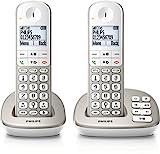 Philips XL4952S/38 schnurloses Telefon mit Anrufbeantworter (4,8 cm (1,9 Zoll) Display, HQ-Sound,...
