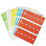 BUZIFU 10 Blätter 300 Stück Kabel Etiketten Selbstklebend 5 Farben Kabeletiketten Wasserdicht...