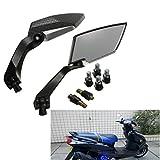 AUDEW Universal Motorrad Roller Rückspiegel Spiegel 8m 10mm für Honda Yamaha Suzuki