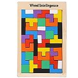 Irady Tetris Tangram Holzpuzzles Didaktisches Lernspielzeug 40 Pcs Intelligenz Pädagigisches...