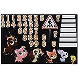 6 Motive Mülltonnenaufkleber Mülleimer Aufkleber Mülltonne Sticker Fenster Wand (Kleine Tiere)