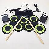 Forfar MIDI Drum Kit Elektronische Roll Up mit integrierten Lautsprechern, Fußpedale,...