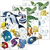 Wandsticker Unterwasserwelt / Fische / Ozean - Wandtattoo für Kinderzimmer / Kinder / Badezimmer...