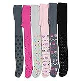 TupTam Mädchen Strickstrumpfhosen Baumwolle 6er Pack, Farbe: Farbenmix 2, Größe: 104-110