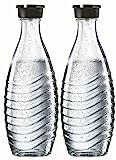 SodaStream DuoPack Glaskaraffe für Crystal und Penguin Wassersprudler (spülmaschinenfest mit fest...